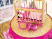 royal baby shower crib