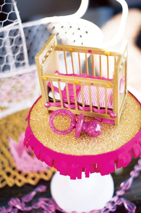 royal baby shower crib