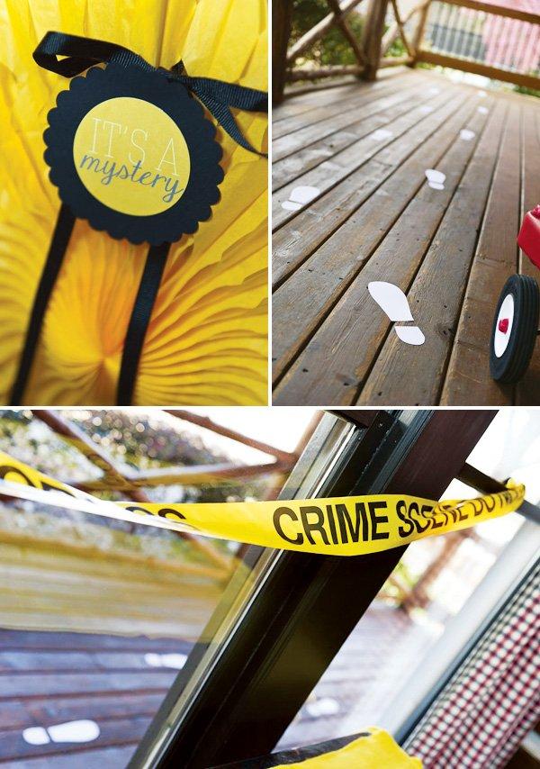 crime scene party decorations