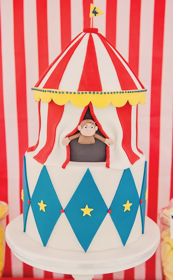 curious George inspired circus party