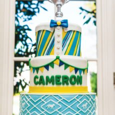 dapper first birthday cake