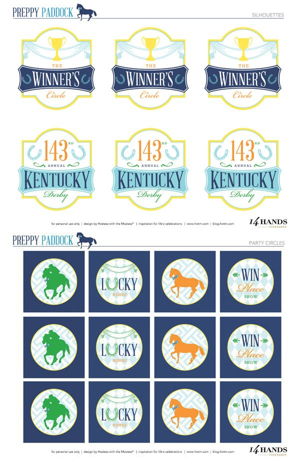 Kentucky Derby Printable Tags
