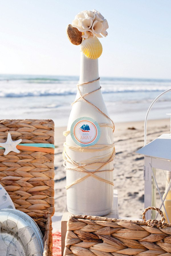 diy beach party vase