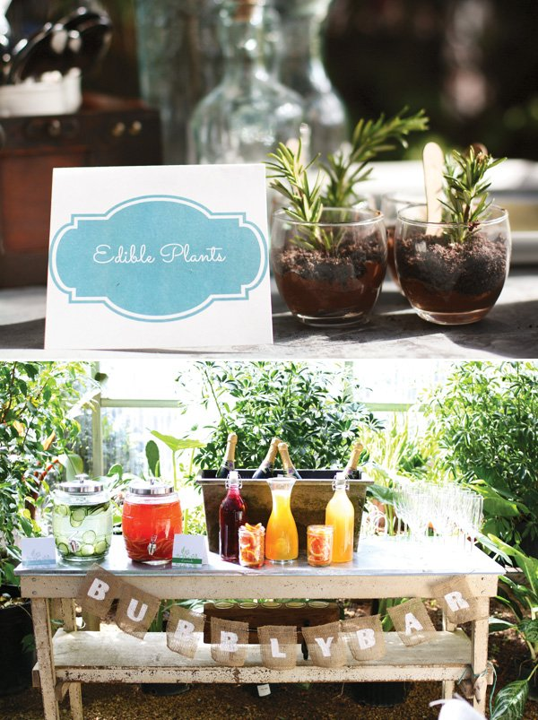 edible plants for a greenhouse bridal shower