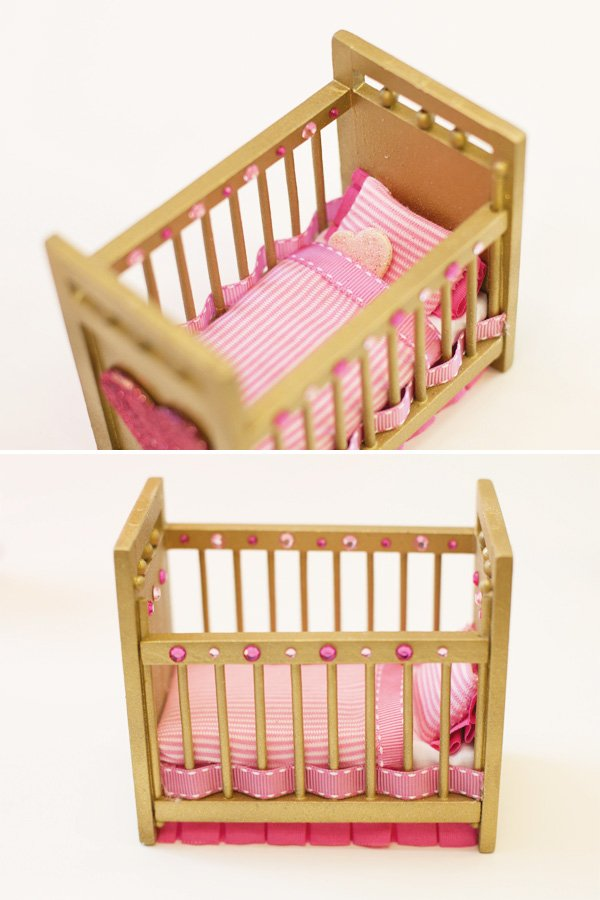 embellished doll crib diy by hwtm