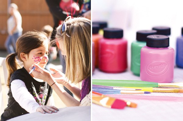 face painting party activity