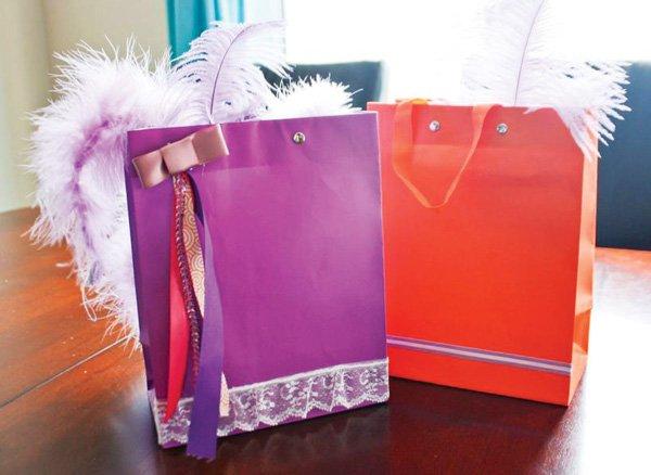 fancy favor bags