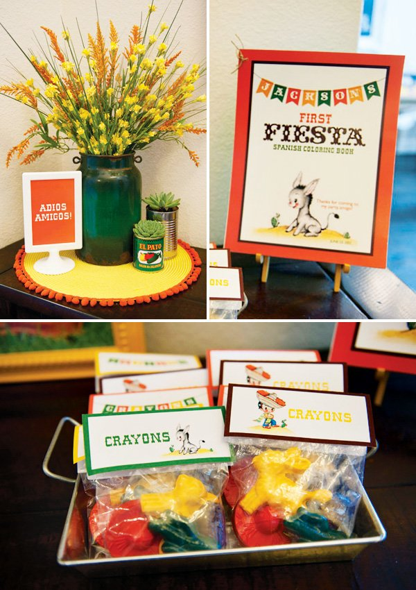 fiesta first birthday party favors