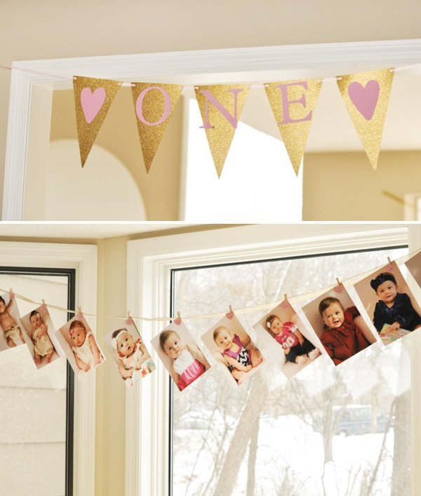 first birthday banner ideas