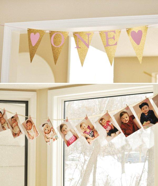 first birthday banner ideas