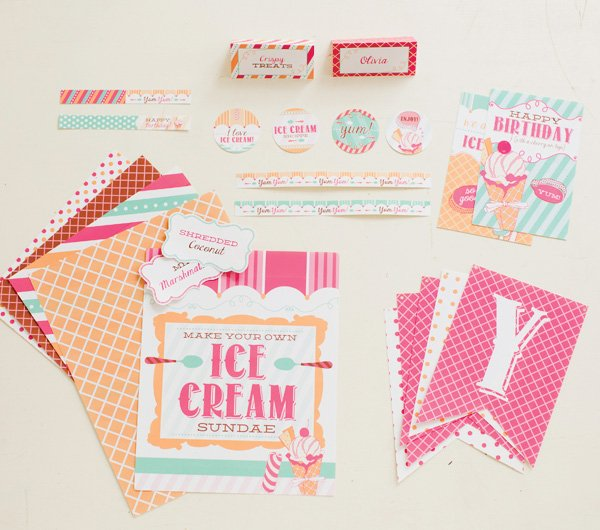 free hwtm ice cream party printables for pottery barn kids