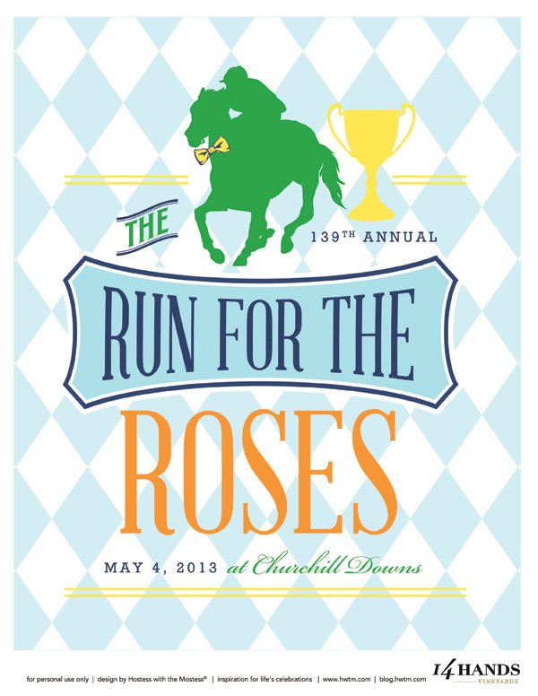 This is a photo of Invaluable Free Kentucky Derby Printables