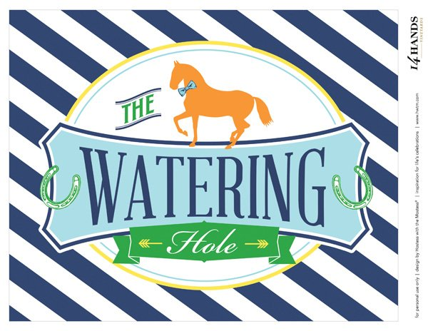 free printable Watering Hole sign