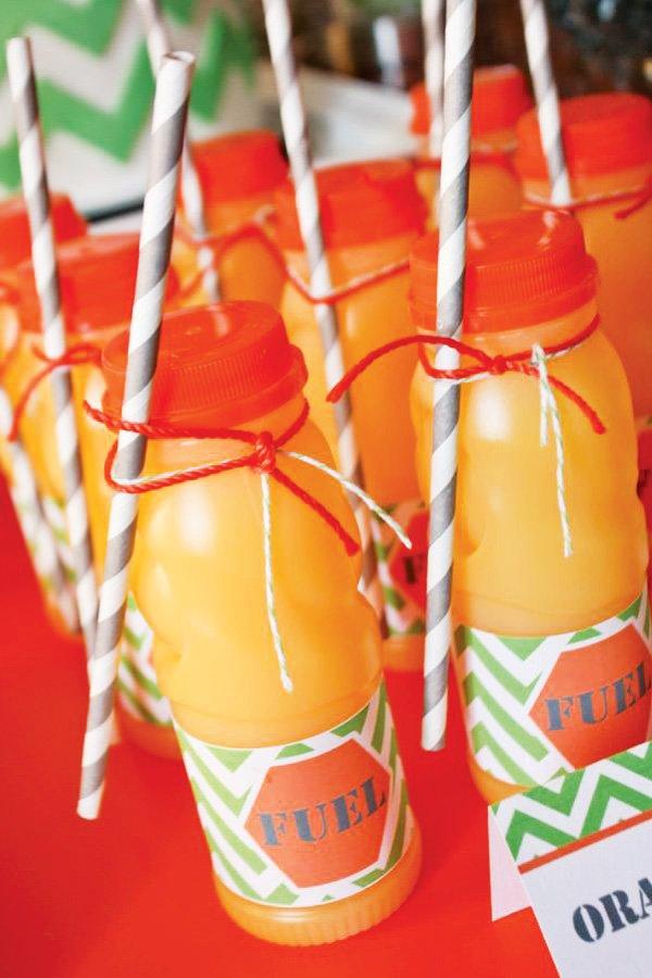 orange juice fuel for a construction party