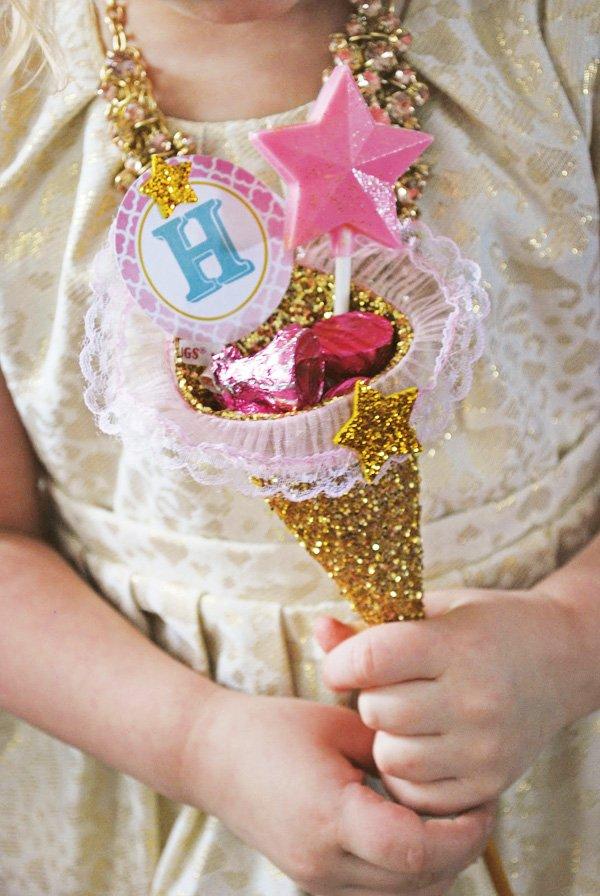 glitter candy cone