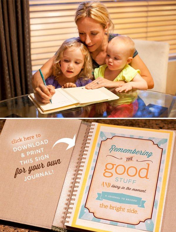 good stuff gratitude journal - free printable