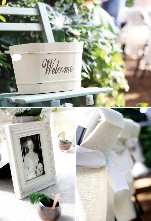 welcome basket for a greenhouse bridal shower