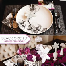 madhouse black orchid tablescape