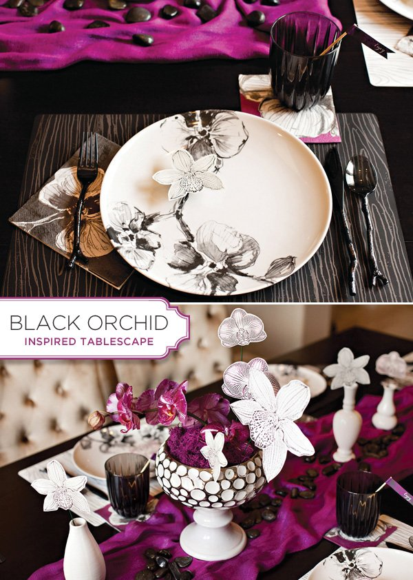 High Quality Madhouse Black Orchid Tablescape Amazing Pictures