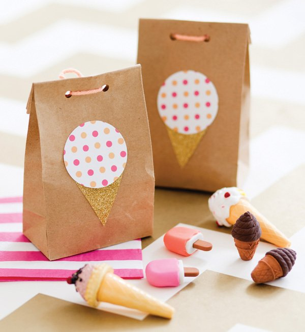 ice cream party favor bags