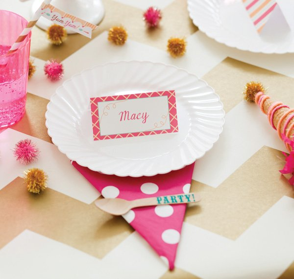 ice cream party plate