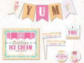 ice cream shoppe birthday party printables collection on hostess ink