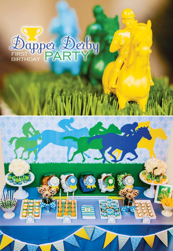 Preppy Amp Playful Quot Dapper Derby Quot First Birthday Party