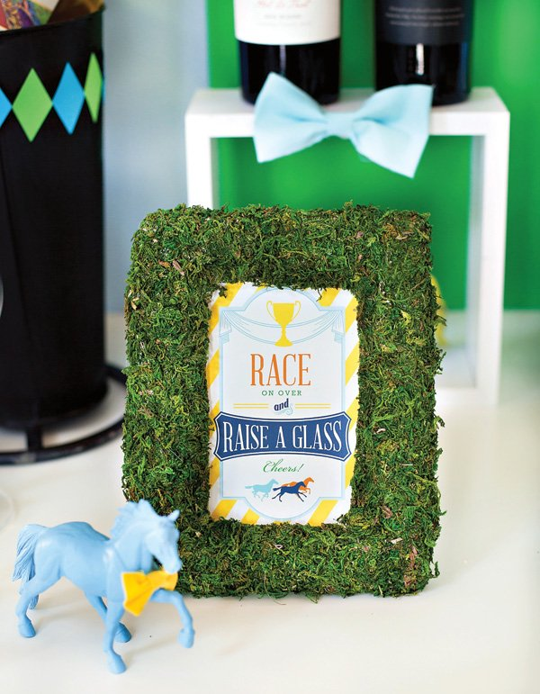 DIY Moss Sign with Free Kentucky Derby Party Printables