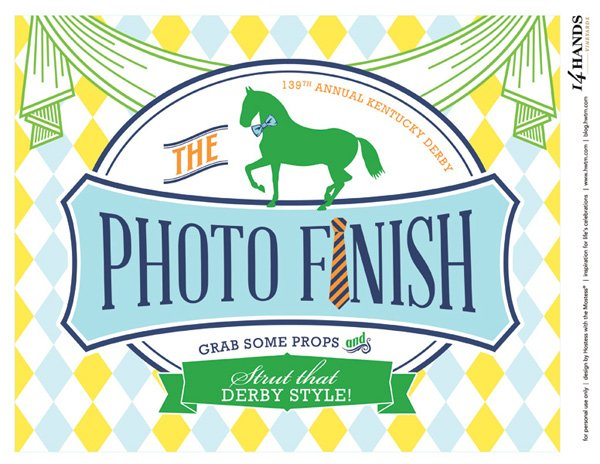 kentucky derby photo booth