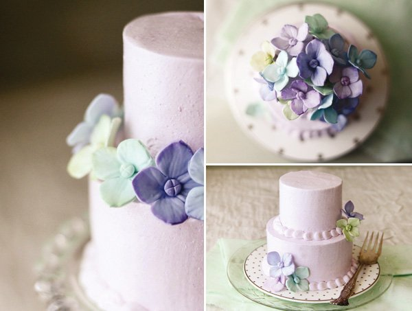 lavender fondant flowers