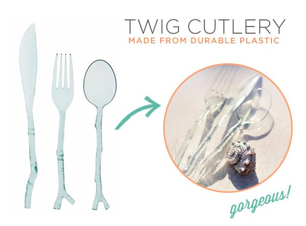translucent twig cutlery by MADHOUSE