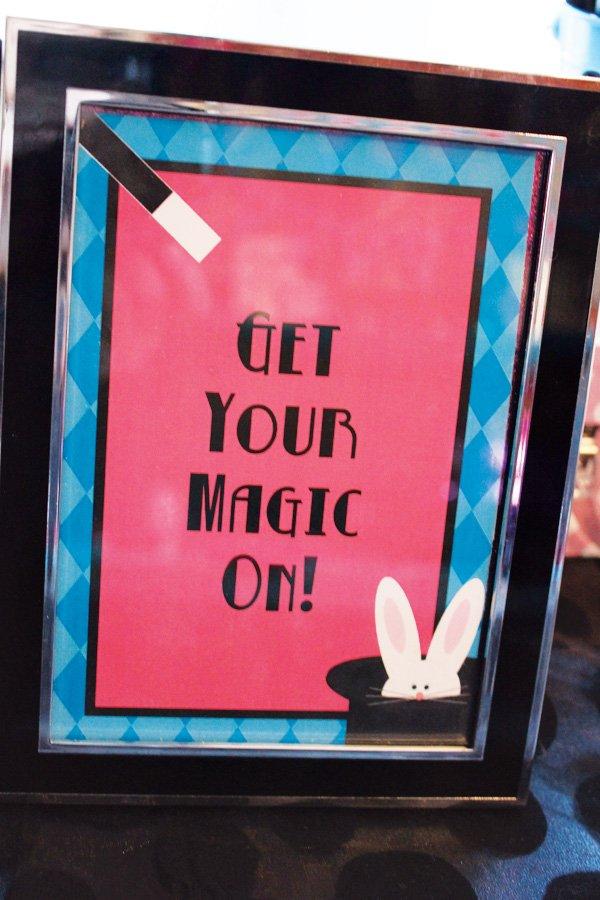 magic party sign
