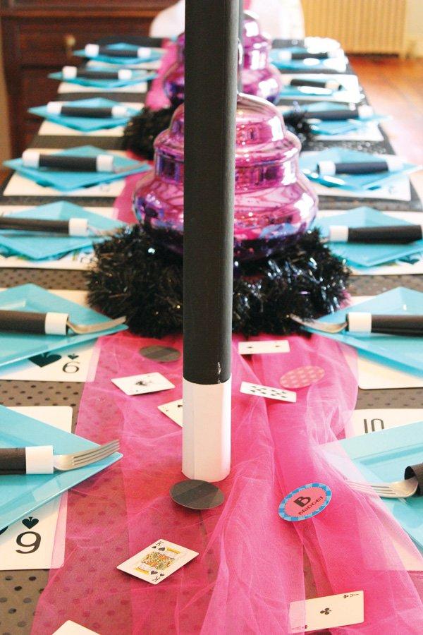 magic party kids tablescape ideas
