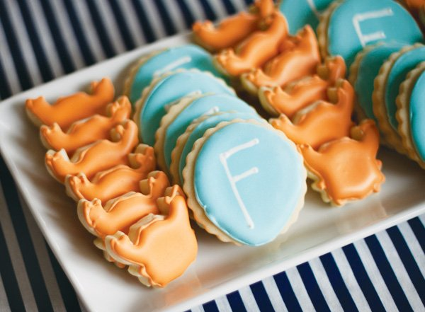 Mini crab shaped cookies