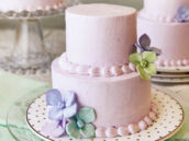 mini honey lavender cake