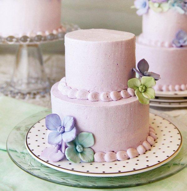 mini honey lavender cake