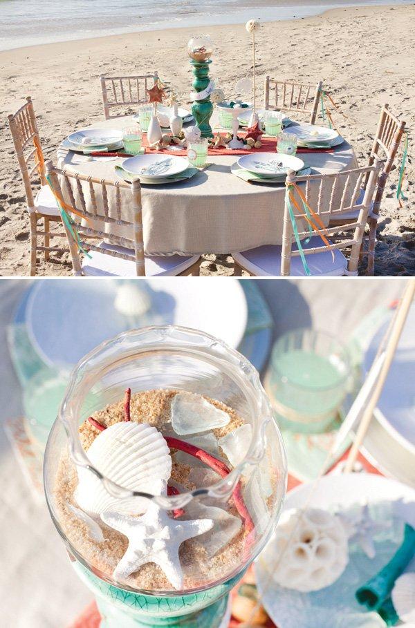 ocean beach table decor