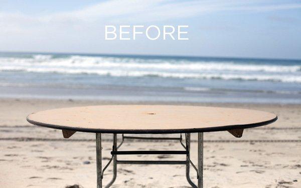 ocean table - before shot
