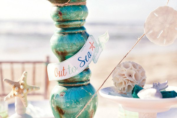 out to sea ocean centerpiece idea