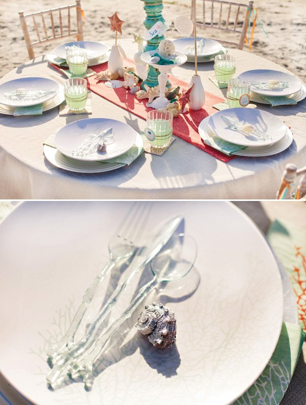 MADHOUSE melamine ocean dinner plates