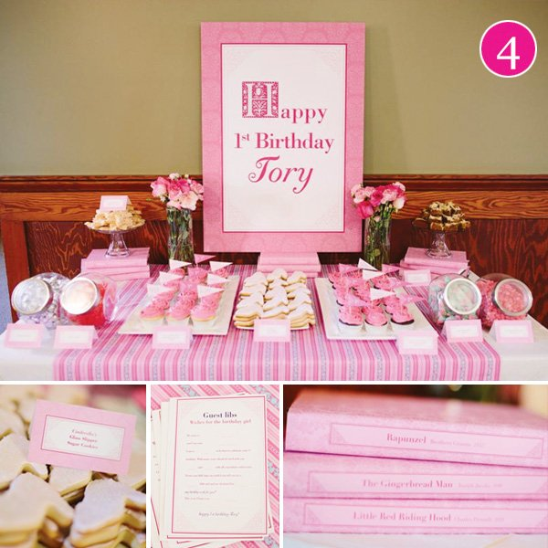 once upon a time pink dessert table