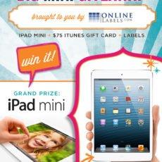 iPad mini giveaway from OnlineLabels.com