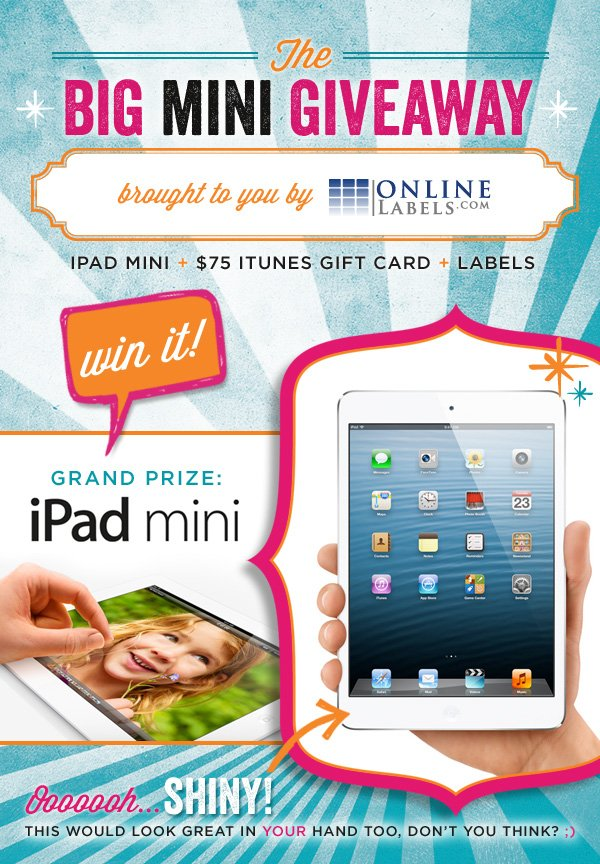 iPad mini giveaway from OnlineLabels.com