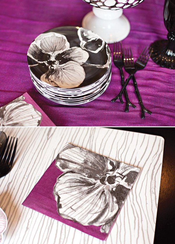 madhouse orchid tablescape by hostess with the mostess