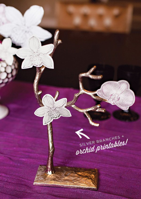 orchid themed centerpiece idea