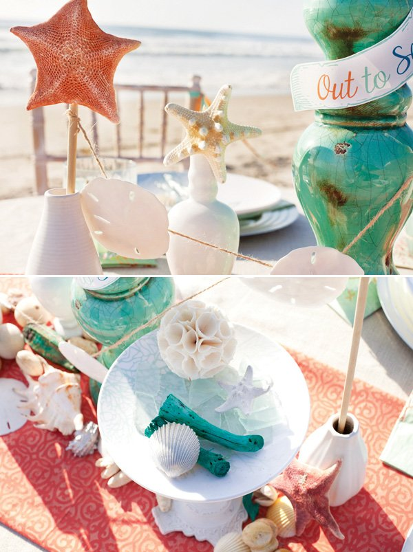 out to sea beach inspired table
