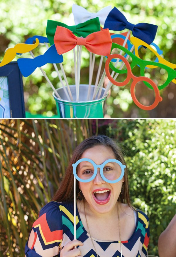 diy painted wooden photo booth props