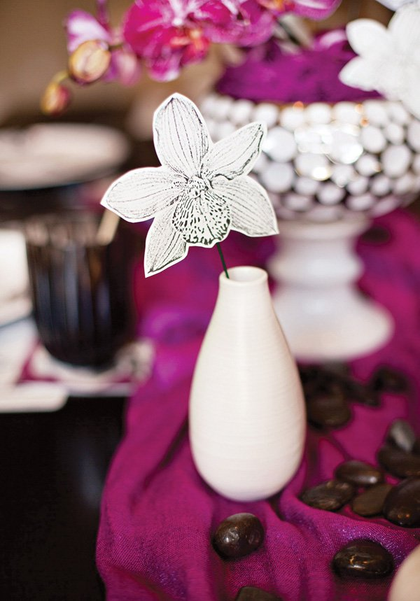 free orchid party printables