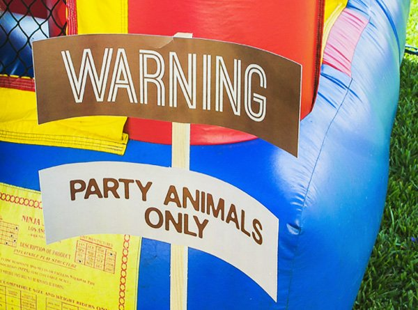 party animal sign