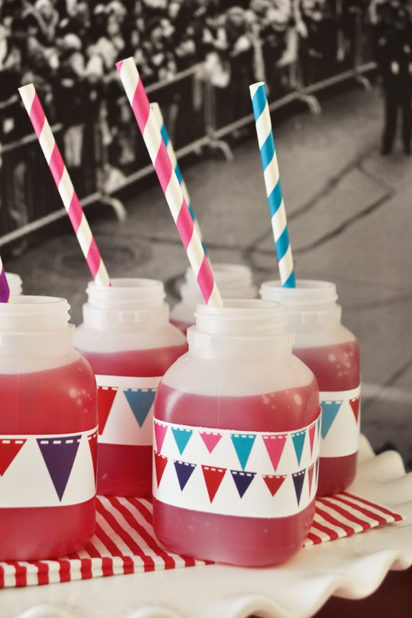 party drinks with straws and embellishments